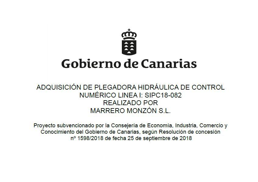Subvención del Gobierno de Canarias