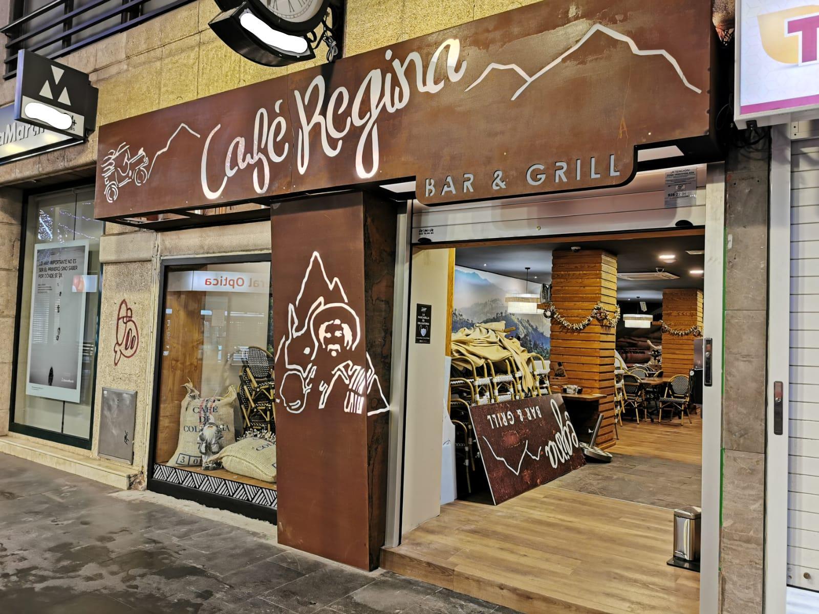 Diseño en Acero Corten para café Regina